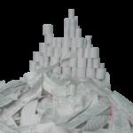 Papierberg aus Kassenbelegen